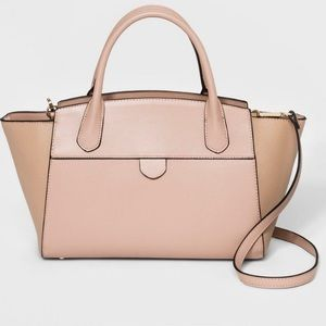 A New Day l Light Pink Winged Satchel Bag